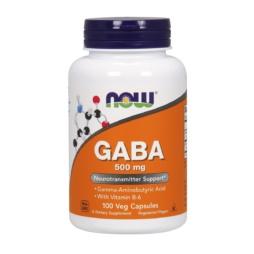 NOW Foods GABA Kapseln 500mg (Gamma- Aminobuttersäure) mit Vit B6