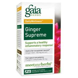 Ginger Supreme Ingwer Kapseln von Gaia Herbs vegan