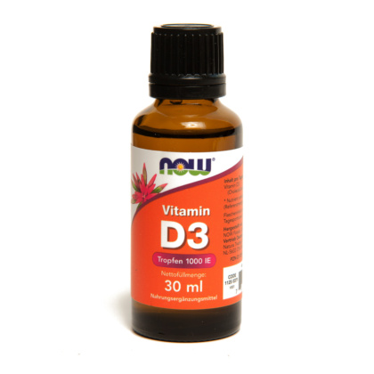 Vitamin D3 Tropfen von NOW Foods enthält 1070 Tropfen je 1000 IU