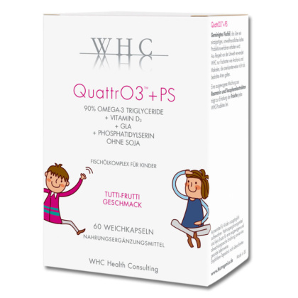 WHC QuattrO3 + PS Omega-3 Kapseln für Kinden von Nutrogenics