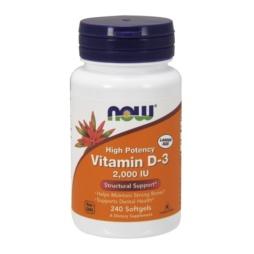 Now Foods - Vitamin D3 mit 2000 IE 240 Softgel Kapseln