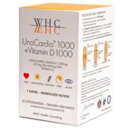 UnoCardio 1000 + Vitamin D 1000 von WHC Nutrogenics