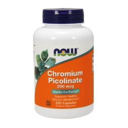 Now Foods Chromium Picolinate 200mcg 250 CAPS