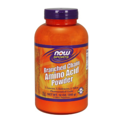 BCAA Pulver 100 % reines Amino-Pulver (Leuzin, Isoleuzin, Valin) von NOW