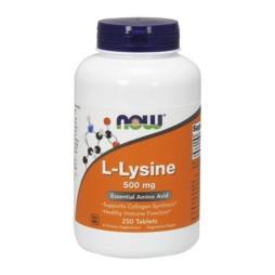 Now Foods - L-Lysine 500 mg x 250 Tabletten vegetarisch