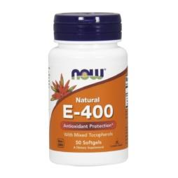 Natural E-400 IE Vitamin E 50 Kapseln von NOW Foods